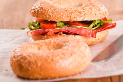 Sesame bagels. Royalty Free Stock Photos