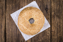 Sesame Bagels (selective focus). Some fresh baked Sesame Bagels (selective focus; close-up shot Stock Photos