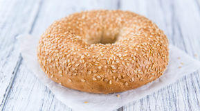Sesame Bagels (selective focus). Some fresh baked Sesame Bagels (selective focus; close-up shot Royalty Free Stock Images