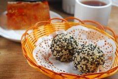 Sesame ball. Dim Sum fried Sesame ball Stock Images