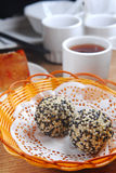 Sesame ball. Chinese Dim Sum sesame ball Royalty Free Stock Photos