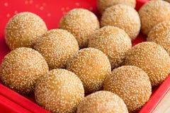 Sesame ball. Is China delicious food, wrap bean paste in glutinous Royalty Free Stock Photos