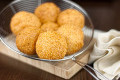 Sesame ball or Onde Onde Stock Photography