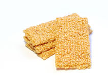 Sesame bars with honey Stock Photos
