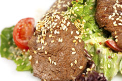 Sesame Beef  with Vegetables Royalty Free Stock Photography