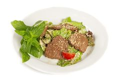 Sesame Beef  with Vegetables Royalty Free Stock Image