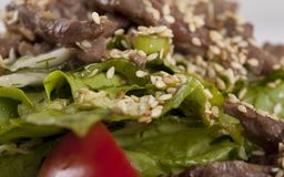 Sesame Beef with Vegetables Royalty Free Stock Images