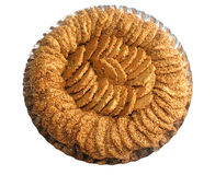 Sesame biscuits in a dish Royalty Free Stock Image