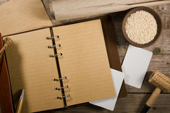 Sesame and book for records Royalty Free Stock Images