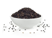 Sesame in the bowl  Stock Images