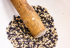 Sesame in a bowl Royalty Free Stock Image