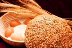 Sesame bread Stock Photography