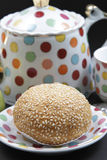 Sesame bread. That looks very tasty and delicious Stock Photography