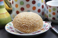 Sesame bread. That looks very tasty and delicious Royalty Free Stock Image