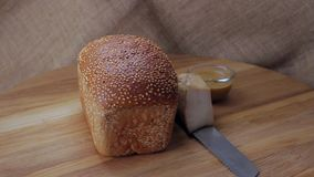 Sesame bread and snack stock video footage