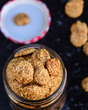 Sesame brittle or til gud chikki balls Stock Photos