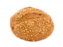 Sesame bun. One sesame bun isolated over white background Royalty Free Stock Photography