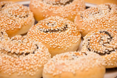 Sesame cakes Stock Photos