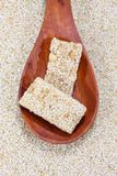 Sesame candy bar Stock Images