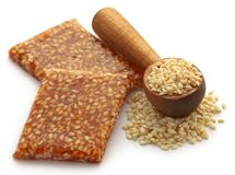 Sesame caramel candy. Very popular in Indian subcontinent Stock Photo