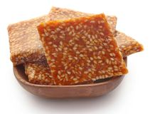 Sesame caramel candy. Very popular in Indian subcontinent Stock Photos