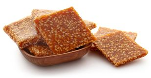 Sesame caramel candy. Very popular in Indian subcontinent Royalty Free Stock Images