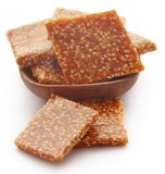 Sesame caramel candy. Very popular in Indian subcontinent Stock Images