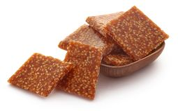 Sesame caramel candy. Very popular in Indian subcontinent Stock Image