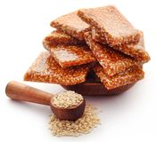 Sesame caramel candy. Very popular in Indian subcontinent stock photography