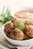 Sesame chicken balls Royalty Free Stock Photo