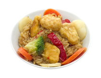 Sesame chicken in bowl Stock Photography