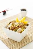 Sesame Chicken Noodle Salad stock images