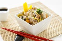 Sesame Chicken Noodle Salad stock image