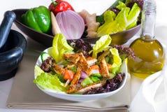 Sesame chicken salad Stock Photo