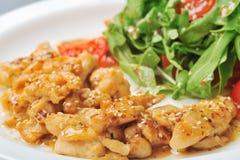 Sesame chiken salad Royalty Free Stock Image