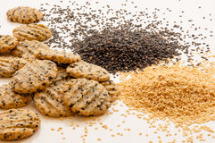 Sesame cookies Stock Photo