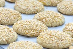 Sesame cookies Stock Photos