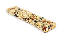 Sesame covered energy bar Royalty Free Stock Images
