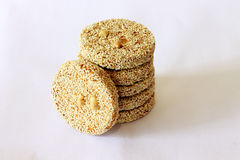 Sesame cracker Royalty Free Stock Photo