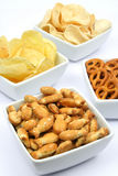 Sesame crackers and snacks Royalty Free Stock Images