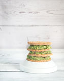 Sesame crispbread with guacamole Royalty Free Stock Image