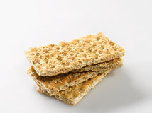 Sesame crispbreads Royalty Free Stock Photos