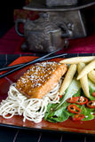 Sesame crusted salmon Royalty Free Stock Image