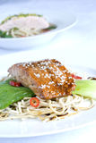 Sesame crusted salmon Royalty Free Stock Photography