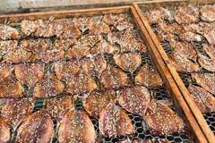 Sesame dried fish Stock Photos