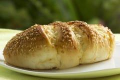 Sesame and garlic bread Stock Photos