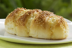 Sesame and garlic bread Stock Image