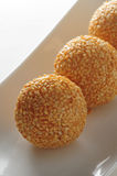 Sesame glutinous ball. Fried sesame glutinous ball dim sum Royalty Free Stock Photos