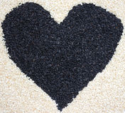 Sesame heart Stock Images