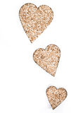 Sesame Hearts isolated on white Royalty Free Stock Photos
